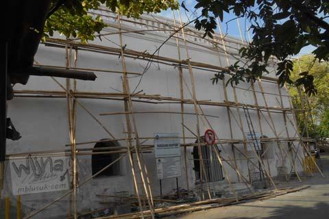 Foto Panggung Krapyak, Bantul sebelum direnovasi pada bulan November 2015