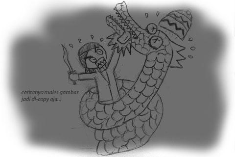 Mitos Nagabumi Penunggu Gua Lawa, Nogosari, Selopamioro, bantul dalam Komik