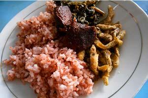 Nasi Merah Pari Gogo yang Ndemenakke