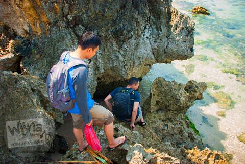 Lokasi Panjat tebing karang di Puncak Kosakora, Gunungkidul