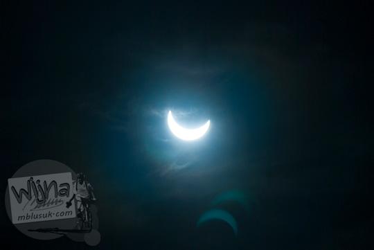 Foto Gerhana Matahari Parsial di Belitung berbentuk sabit di tahun 2016