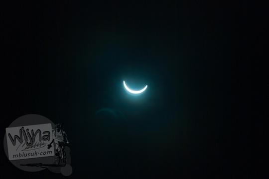 Foto Gerhana Matahari Nyaris Total di Belitung di tahun 2016