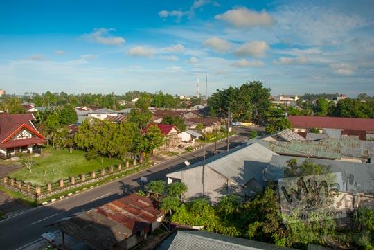 Foto Kota Tanjung Pandan yang sepi saat Gerhana Matahari Total di Belitung di tahun 2016