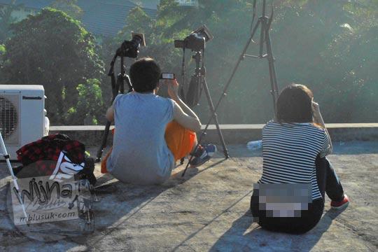 Foto sensor turis china telanjang saat Gerhana Matahari Total di Belitung di tahun 2016