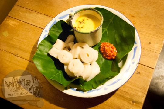 Makanan khas belitung bernama Berego yang disajikan Ruma Makan Belitong Timpo Duluk di kota Tanjung Pandan, Belitung pada tahun 2016