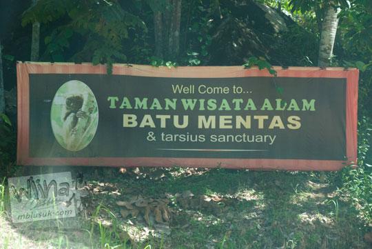 rute kendaraan umum dari kota Tanjung Pandan menuju Taman Wisata Alam Batu Mentas di Belitung Maret 2016