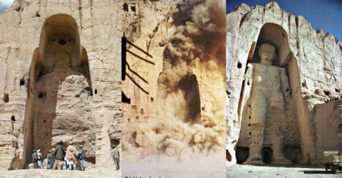 Kehancuran Buddha Bamiyan di Afganistan karena tentara Taliban