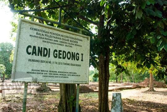 cerita pengalaman blogger cewek jalan-jalan wisata dari Kota Jambi dengan panduan peta rute arah ke lokasi Candi Gedong 1 di Kompleks Candi Muaro Jambi pada April 2015