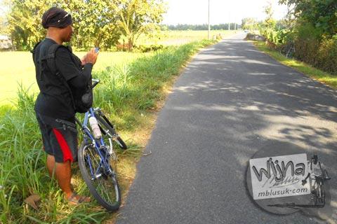 bersepeda rute blusukan menuju pantai samas, Bantul di tahun 2015