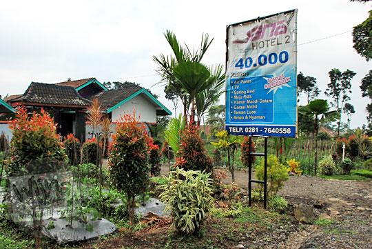 Fasilitas dan tarif penginapan murah di sekitar Curug Cipendok, Banyumas pada tahun 2016