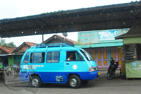 Rute perjalanan ke Curug Cipendok, Banyumas naik kendaraan umum angkot dan bus pada tahun 2016