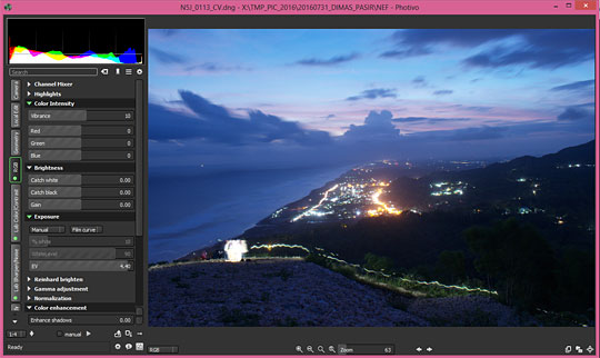 cara tutorial langkah-langkah mengedit foto berformat RAW bagi pemula dari DSLR Nikon D80 dan D5500 menggunakan RAW editor gratisan photivo kualitas sekelas Photoshop Lightroom