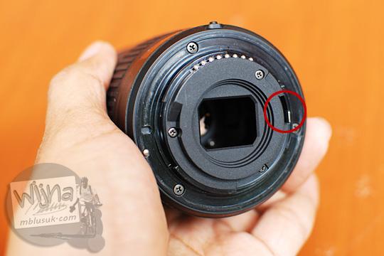 diafragma lever lens AF-P DX Nikkor 18-55mm f/3.5-5.6G VR