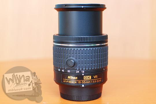 lens extended AF-P DX Nikkor 18-55mm f/3.5-5.6G VR