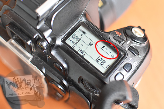 how to fix cara memperbaiki f-- error on dslr nikon