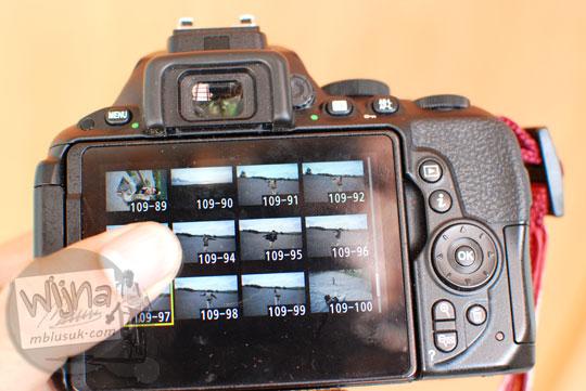Kualitas LCD Touchscreen DSLR entry-level Nikon D5500 mirip gorilla glass smartphone