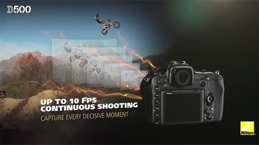 Review DSLR Nikon D500 Up to 10 FPS Continuous Shooting