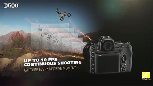 Review DSLR Nikon D500 Up to 10 FPS Continuous Shooting