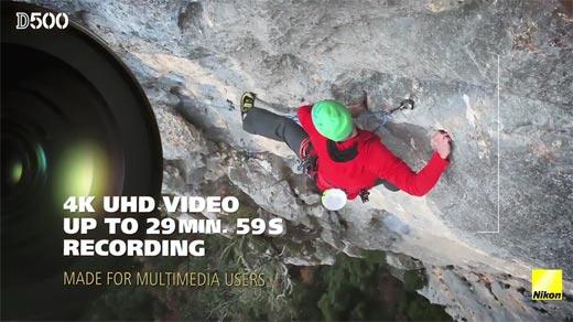 Review DSLR Nikon D500 4K UHD Video Up To 29 Min. 59 Sec Recording