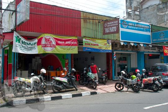 Lokasi warung sop senerek Pak Parto di Jalan Majapahit, Kota Magelang