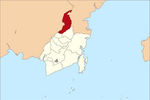 peta lokasi kabupaten tabalong di provinsi kalimantan selatan