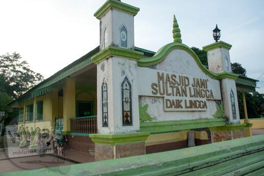 Masjid Jami Sultan Lingga di Kepulauan Riau pada tahun 2016