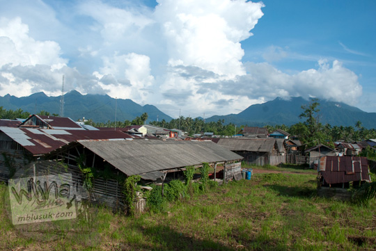 Suasana kota Daik, ibu kota Kabupaten Lingga yang terletak di Pulau Lingga, Provinsi Kepulauan Riau