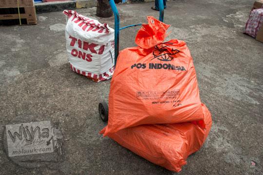 Paket pos Indonesia dan TIKI ONS di Pelabuhan Sri Bintan Pura, Tanjungpinang