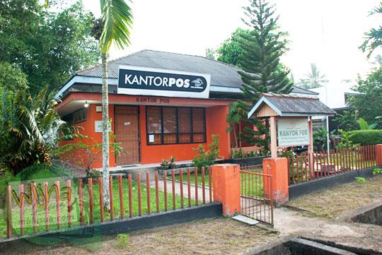Letak dan Lokasi Kantor Pos Indonesia di Daik, ibu kota Kabupaten Lingga, Kepulauan Riau pada Mei 2016