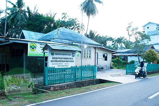 Letak dan Lokasi Kantor Satpol PP di Daik, ibu kota Kabupaten Lingga, Kepulauan Riau pada Mei 2016