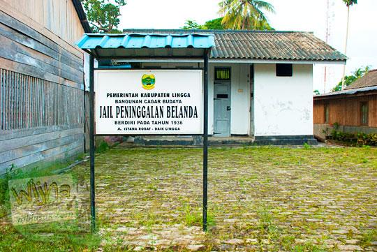 Sejarah dan cerita bekas penjara peninggalan Belanda yang terkenal angker yang ada di Kota di Daik, ibukota Kabupaten Lingga, Kepulauan Riau pada Mei 2016