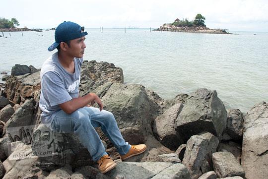 Foto sosok pemuda ramah dari Daik, Pulau Lingga di Kepulauan Riau bernama Mawan asal Desa Resun