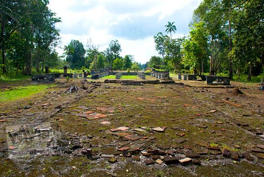 sisa tanah kosong bekas peninggalan sejarah Istana Damnah Kesultanan Lingga tahun 2016