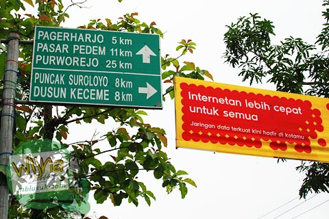 papan jarak samigaluh puncak suroloyo Kulon Progo