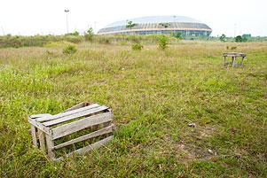 Kesan Mengenaskan Stadion Utama Riau