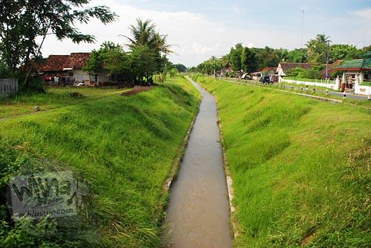Pemandangan Lembah Selokan Van Der Wijck, Yogyakarta di tahun 2016