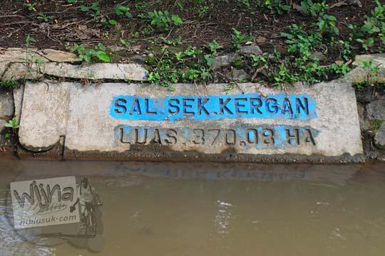 Saluran Sekunder Kergan bagian dari Selokan Van Der Wijck, Yogyakarta di tahun 2016