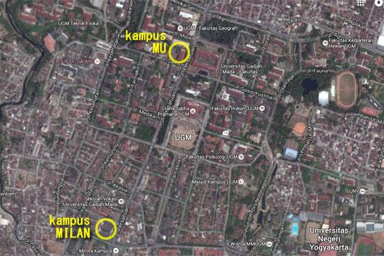 Peta Denah Kampus Fakultas MIPA UGM di tahun 2016