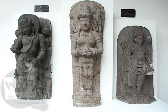 Arca-arca candi Hindu yang menjadi koleksi Museum Sonobudoyo, Yogyakarta di tahun 2016