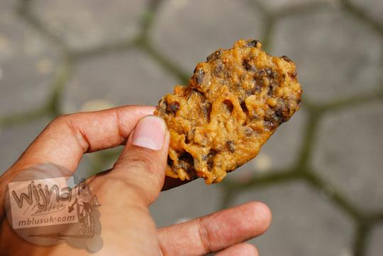 jajanan pasar tempe gembus balut tepung goreng khas Gunungkidul, Yogyakarta