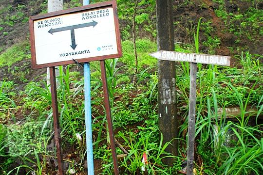 Petunjuk rute arah ke Cinomati dan Grojogan Kali Bulan di tahun 2015
