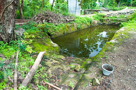 asal-usul sejarah sendang mata air di Dusun Ngelosari, Piyungan, Bantul pada Desember 2015