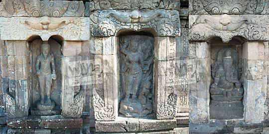 alasan cerita kenapa Candi Sambisari di Yogyakarta memiliki tiga bentuk arca hindu unik agastya durga ganesha