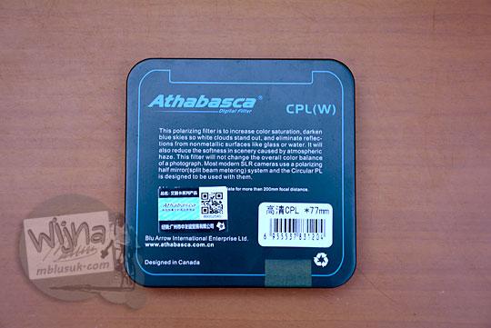 bagian belakang kotak back cover box filter cpl(w) athabasca
