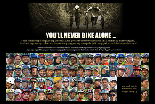 poster pesepeda jogja you never bike alone