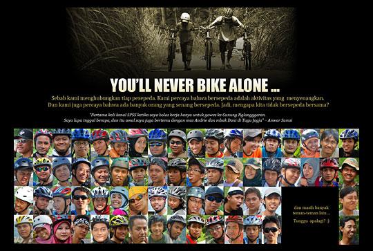 poster pesepeda jogja you never bike alone