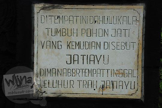 cerita kisah asal-usul sejarah monumen jatiayu di karangmojo gunungkidul