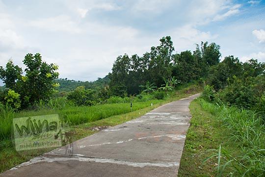 penampakan medan ruas jalan menyusuri tebing pinggir jurang menuju ke green village gedangsari gunungkidul