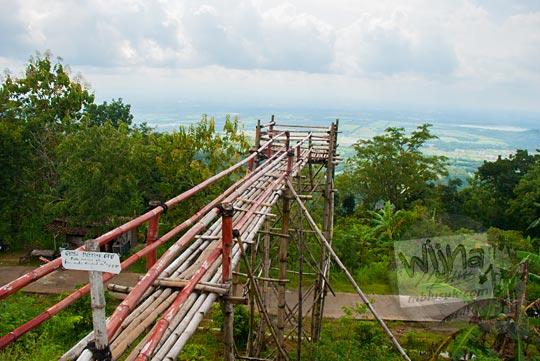 lokasi tempat letak dan tarif foto di gardu pandang di green village gedangsari gunungkidul