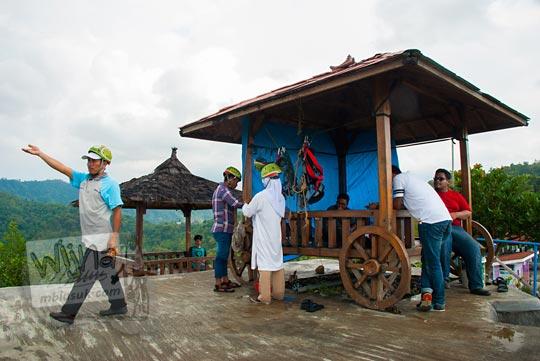 persiapan syarat-syarat pengunjung untuk bisa flying fox di green village gedangsari gunungkidul